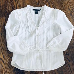 Marc By Marc Jacobs white button down blouse sz 2